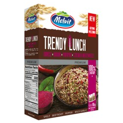 5.	Trendy Lunch Spelt, beetroot, peppers & bear's garlic