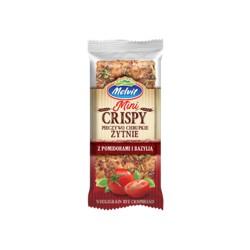 Rye Crispy Crispbread with Tomatoes and Basil
