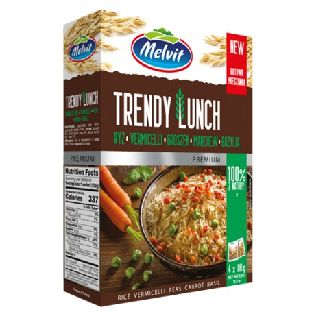 Trendy Lunch Rice, Vermicelli, Peas, Carrot & Basil