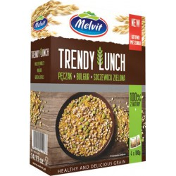 Trendy Lunch Hulled Barley, Bulgur & Green Lentils